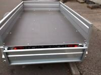Car Camping BOX Trailer 7ftx4ft 2,03 x 1,12 m + TOP COVER ! BEST PRICE !