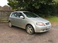 DAEWOO CHEVROLET KALOS 1.4 4 MOT STARTS RUNS DRIVES NEEDS T;S BARGAIN £295