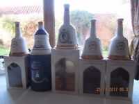 Bells Decanters all in presentation boxes