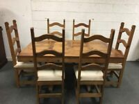 Pine Refectory Style Dining Tables & Chairs