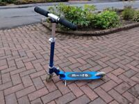 Blue Microscooter
