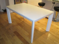 Dwell White Dining Table - extendable