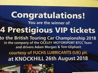 VIP tickets to the British Touring Car Championship 2018 - 26th August 2018