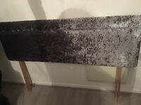 Kingsize crushed velvet headboard
