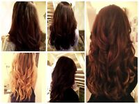 Mobile hair extensions in Bournemouth. Pre bonded & micro/nano rings