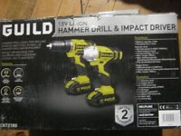 Guild 18V Li ION Hammer drill and impact driver New sealed box