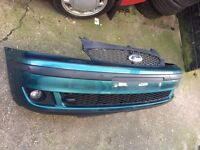 Ford GALAXY FRONT BUMPER 2001-2006 MK2 Green with Foglights, parking Sensors 01202 399224