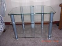 TV Stand Glass / Chrome