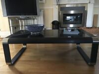 Black glass, contemporary coffee table