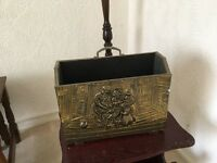 Brass bell and magazine rack
