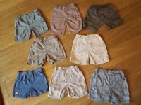 12-18 months 8 pairs of shorts