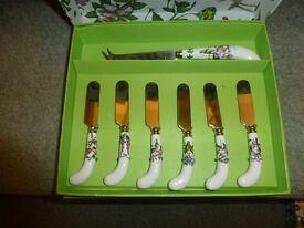 Portmerion butter knives brand new in box