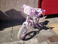 "Disney Princess bicycle, 12"" frame - Pristine condition"