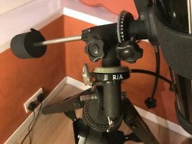 Tasco reflector telescope on a tripod and equatorial mount for more precision sky viewing