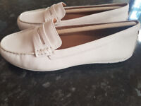 New Clarks Unstructured Un Terra Off White Leather Size 4.5 UK, 37.5 EU
