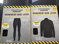Men's size Medium base layers, work wear or activity clothing, leggings and top sleeved top