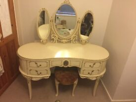 Shabby chic, French Louis style bedroom furniture