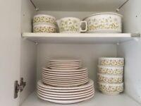 Retro 1970's Hornsea Fleur Tableware ( Plates Bowls Jug Tureen)