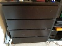 Ikea black chest of drawers