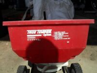 True Temper tow behind fertilizer/seed spinner by Cyclone