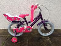 Purple Raleigh Songbird bike 14 inch