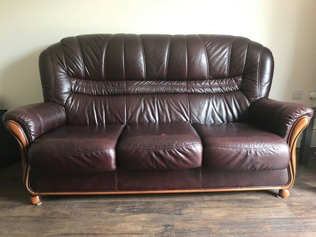 Pleasant Stylish 3 Seater Brown Leather Sofa Reduced In Cambridge Cambridgeshire Gumtree Pdpeps Interior Chair Design Pdpepsorg