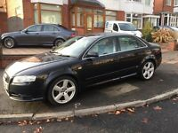 Black Audi A4, S line, fully loaded, SAT NAV, automatic