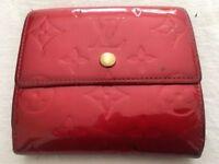 Genuine LV Louis Vuitton Vernis Rouge Porte Monnaie wallet, leather red, RRP £450, bargain