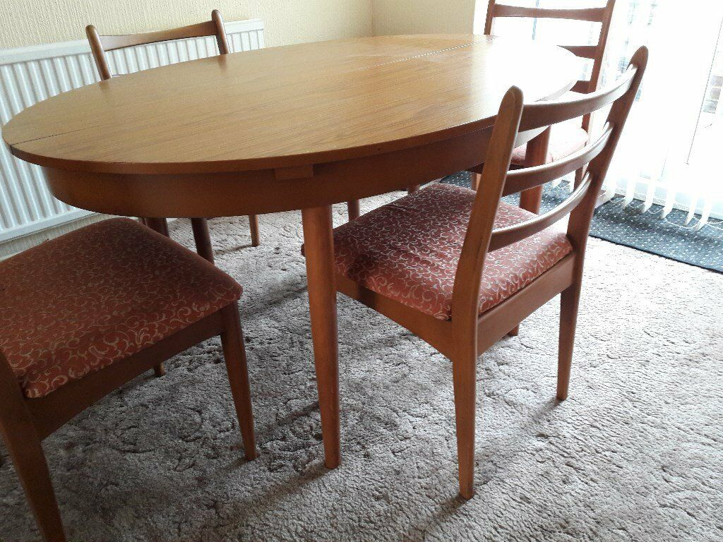 Schreiber Retro Dining Table And Four Chairs In Gillingham Kent