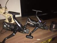 2 shimano ft 3500 aero bait runner reels