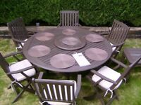 Garden dining table and chairs set