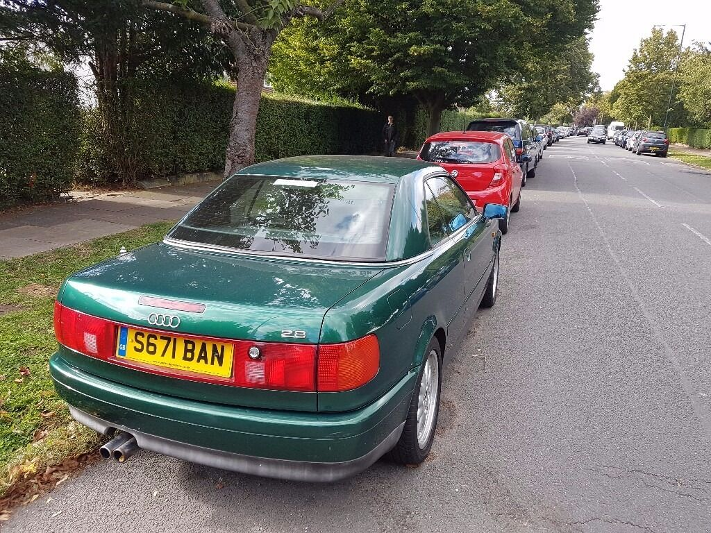 1998 audi cabriolet for sale with factory hardtop immaculate condition 2 8 v6 model with black
