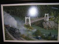 """Painting """"  Old Crossing at Alexandra"""" by Max Jacquiard"""