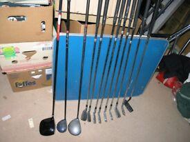 12 Golf ClubsIncllarge Drivers.Protact Power Bilt Steel