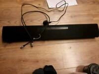 Panasonic sound bar and connector cable.