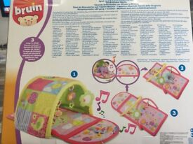 Baby Girl Musical Mat/Discovery Play Tunnel 0+ months