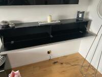 2x IKEA Besta Burs Black Gloss Wall Units