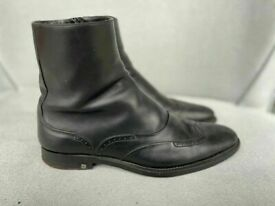 Louis Vuitton Minister ankle boots in black leather, size 9, rrp £890