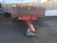 Wooden bed Marshall tipping trailer.