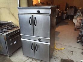 CATERING COMMERCIAL TWIN GAS OVEN CUISINE CAFE SHOP RESTAURANT KITCHEN TAKE AWAY FASTFOOD COMMERCIAL