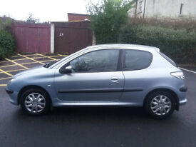 PEUGEOT 206s CAR (Year 2004). WITH FULL YEARS MOT.