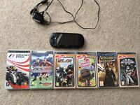 Sony PSP handheld gaming system with 6 games