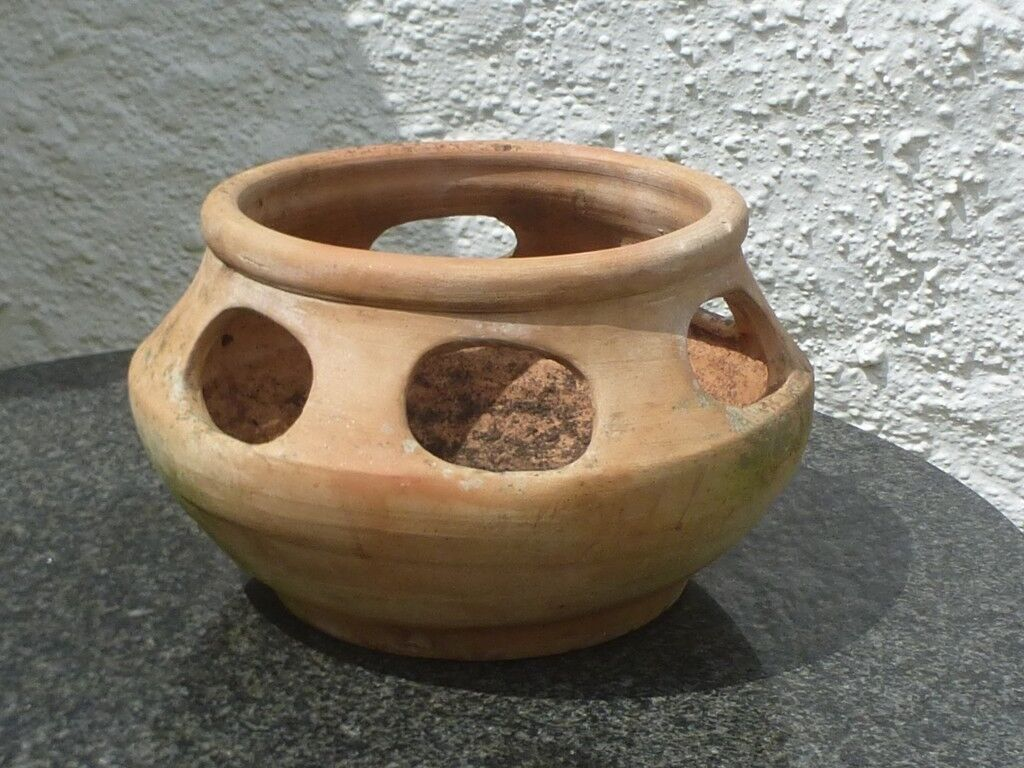 Superb Well Weathered Terracotta Herb Planter
