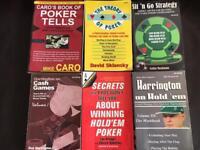 Poker books x 6