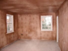 we plaster rooms for £300,