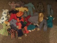 Selection of Sindy & Action girl clothing including shoes