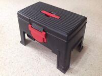Tool Storage Box Stool / Seat. Fishing | Tray | Compartments