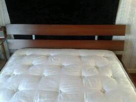 IKEA 4'6 BED WITH SLEEPEEZE BARONESS MATTRESS OVER 2000 POCKETED SPRING