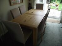 Schreiber Oak Extension Dining Table with 6 Matching Chairs