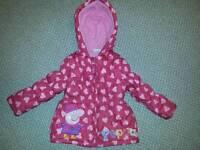 Girls Peppa Pig Winter Coat 18-24 months